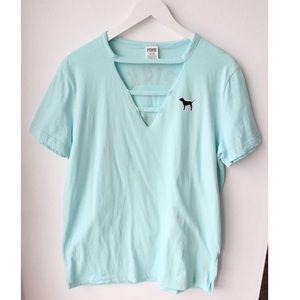 PINK Victoria's Secret T-shirt In Blue